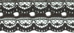 7/8'' Black Lace Trim7/8'' Black Lace Trim