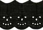 1 7/8'' Black Eyelet Lace Trim1 7/8'' Black Eyelet Lace Trim