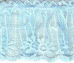 2 1/2'' Light Blue Gathered Lace Trim2 1/2'' Light Blue Gathered Lace Trim