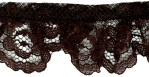 1 1/4'' Brown Gathered Lace Trim1 1/4'' Brown Gathered Lace Trim
