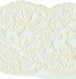 4 1/4'' Cream Lace Trim with Netting on 1 Side4 1/4'' Cream Lace Trim with Netting on 1 Side