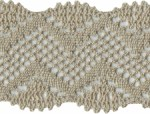 2 1/4'' Tan Cotton Lace Trim2 1/4'' Tan Cotton Lace Trim