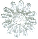 1'' White Venice Daisy Applique1'' White Venice Daisy Applique