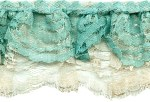 3'' Sage/Cream Double Ruffled Lace3'' Sage/Cream Double Ruffled Lace