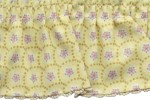 2 1/8'' Yellow/Pink Flowers Gathered Fabric with Lace Edge2 1/8'' Yellow/Pink Flowers Gathered Fabric with Lace Edge