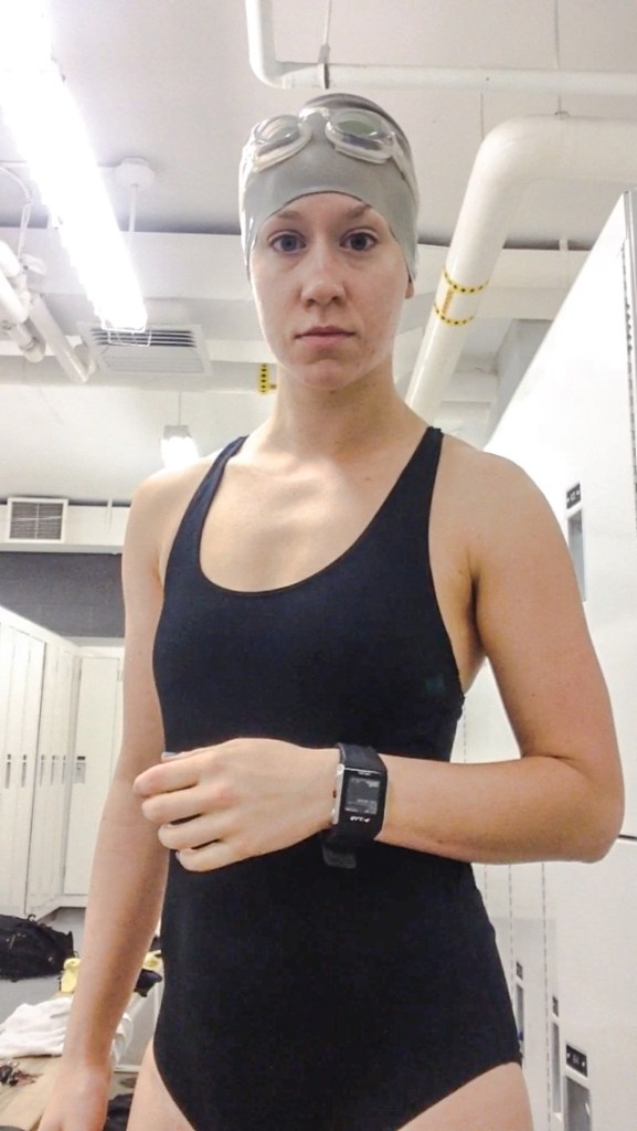 """Conditions like """"It's 5 AM and I am about to enter a freezing pool and THIS IS MY HAPPY FACE"""""""