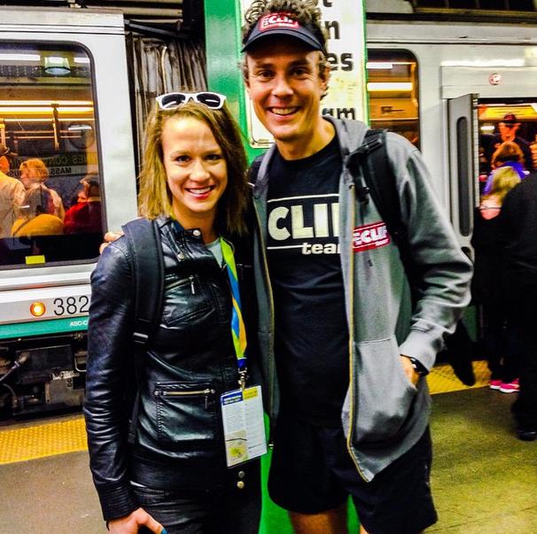 Nothing like riding the subway with Scott Jurek..