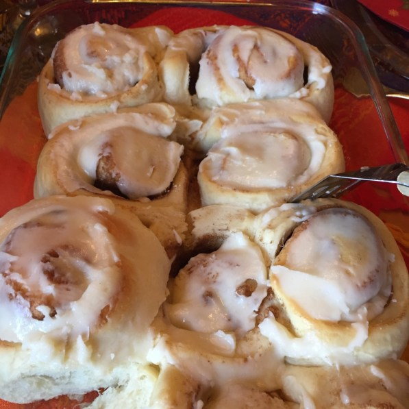 I wait all year for these cinnamon rolls. I may be biased, but I think my mom makes the best ones in the world.