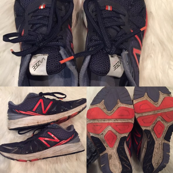 A look at the shoes with 400 KM on them, both indoor and outdoor