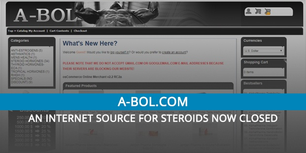 A-bol Review \u2013 An Internet Source for Steroids Now Closed