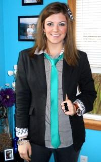 women in neckties