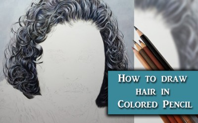 Drawing hair in Colored Pencil