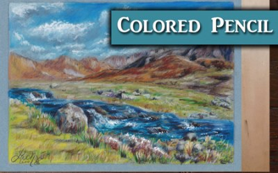 Colored Pencil Landscape Tutorial