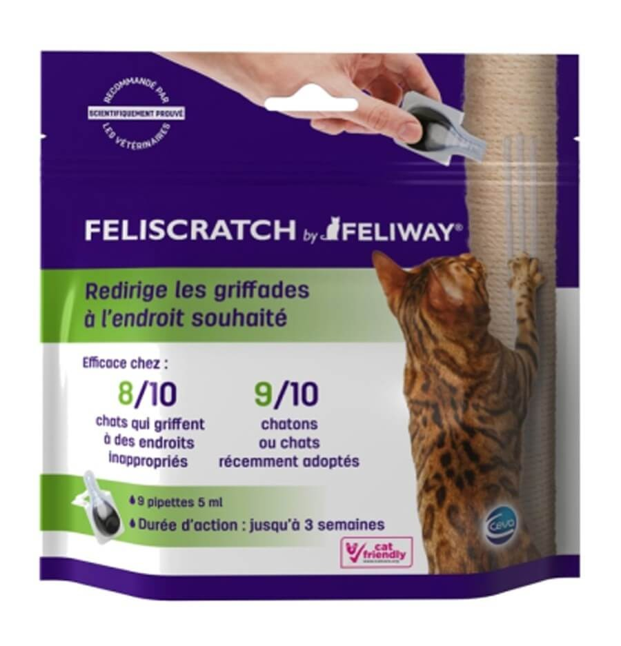 Comment Empecher Un Chat De Griffer Les Fauteuils Feliscratch By Feliway Pour Chat 9 Pipettes
