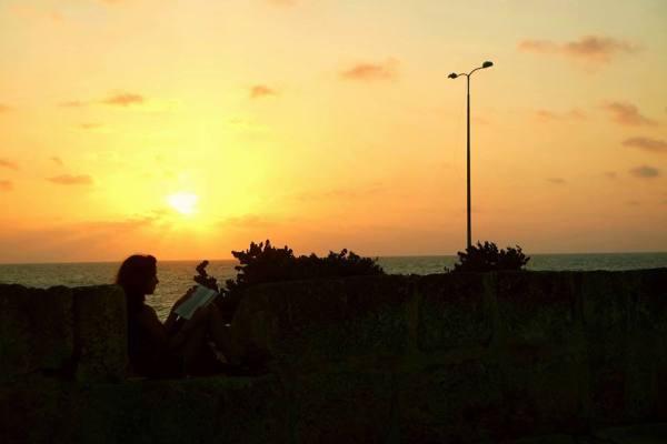 Atardecer en la muralla, Cartagena de Indias