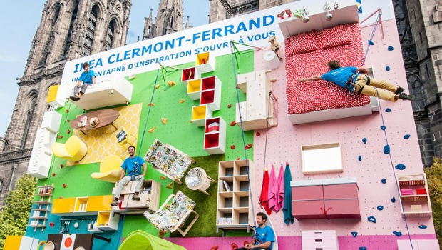 Ikea transforma una valla publicitaria en una pared de - Ikea clermont ferrand adresse ...