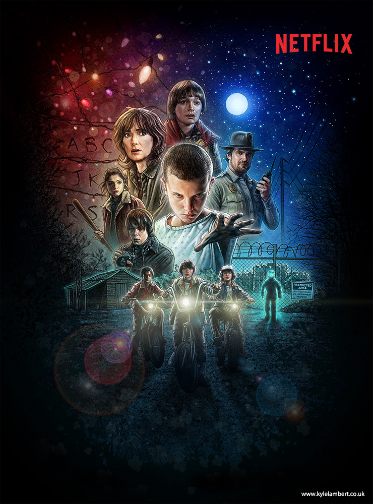 kyle-lambert-stranger-things-series-poster-art