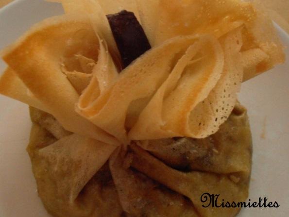 Aumônières chocolat   banane et M&M'S noir 05