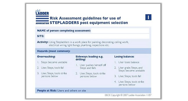 Risk Assessment Guide - Stepladder - The Ladder Association