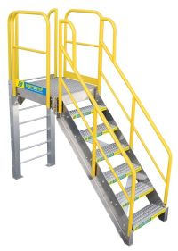 Crossover Stairs and Platforms | Ladder Safety Company