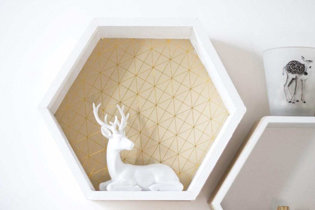 La Délicate Parenthèse création DIY tutoriel déco étagère hexagonale