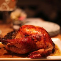Thanksgiving Confit Turkey with Clam and Sausage Stuffing - by Todd English