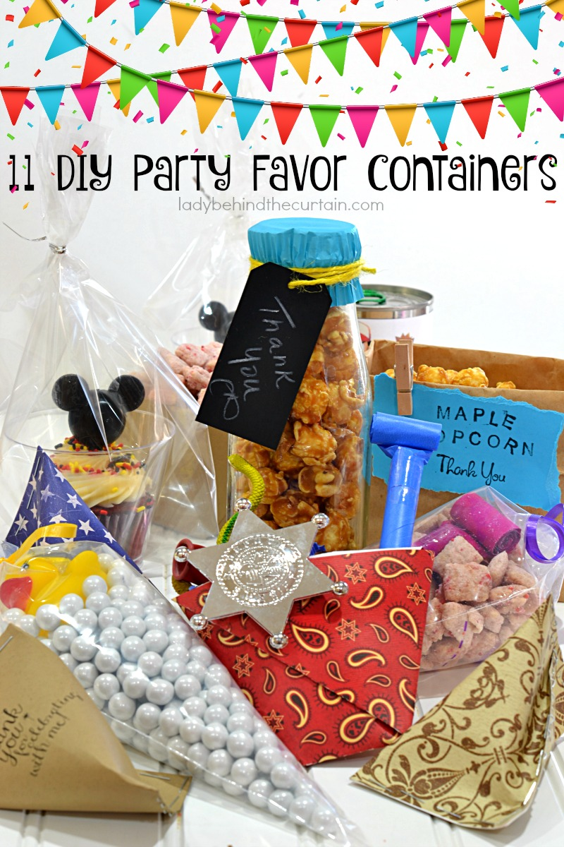 Diy Party 11 Diy Party Favor Containers Birthday Party Favors Cheap Party