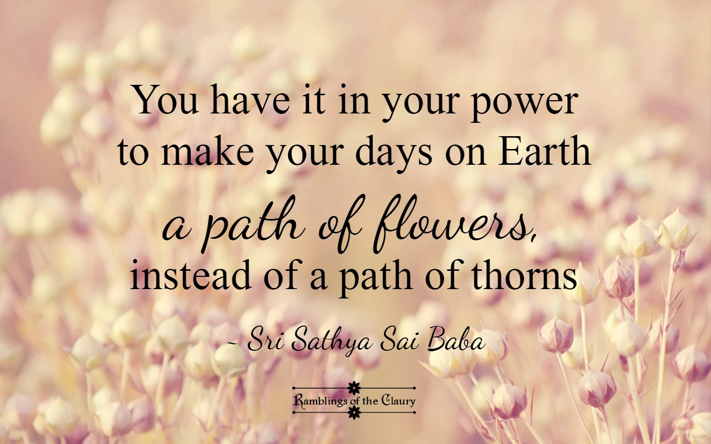 A Path of Flowers