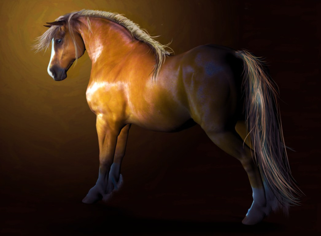 Glossy Chestnut texture for MilHorse