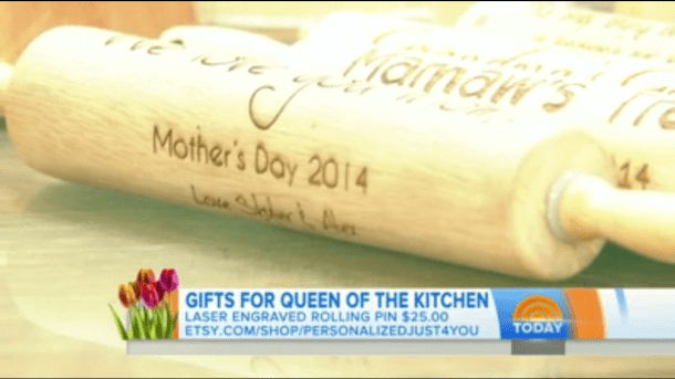 Oh great....a fucking rolling pin...that says Mothers Day 2014...so I will never forget the day that I received a rolling pin as a GIFT!