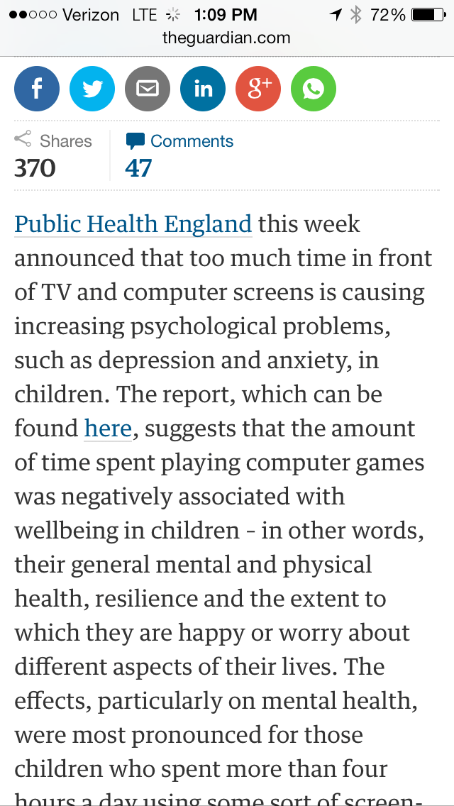 You let your kids watch television and play x-box?? Well don't complain when they are suicidal and fat....