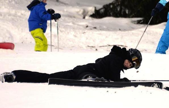 madonna-skiiing