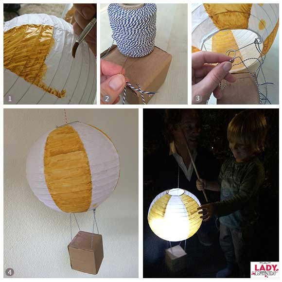 Lampion Kopen Hema Diy: Luchtballon Lampion | Lady Lemonade