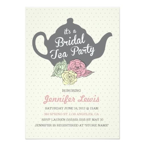 Tea Party Invitation Card - tea party invitation