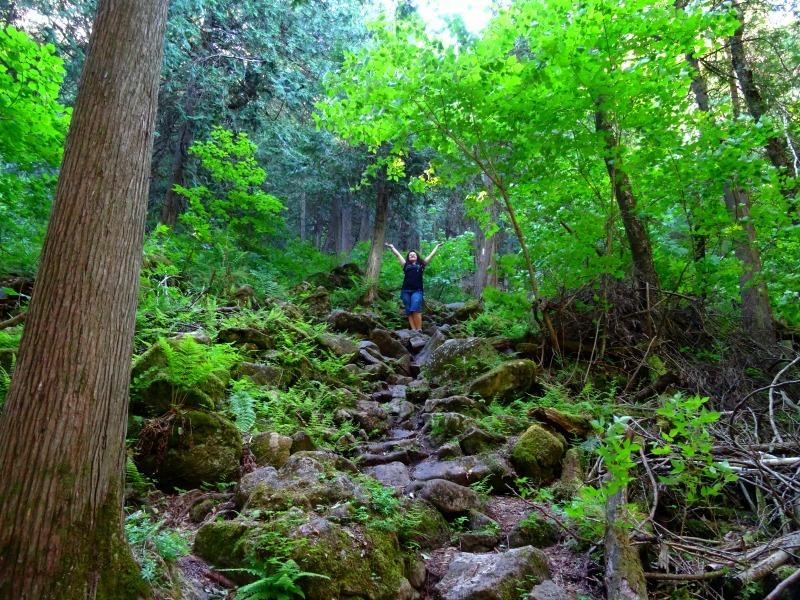 Hiking Devil's Pulpit in Caledon