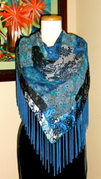 How To Wear Fringed Scarves and Shawls  Lady Violette