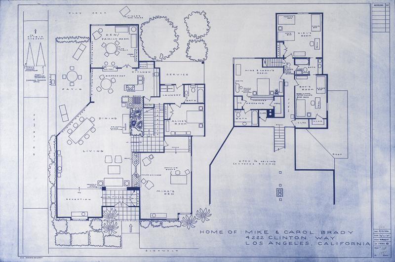 brady bunch house floor plan square fooe