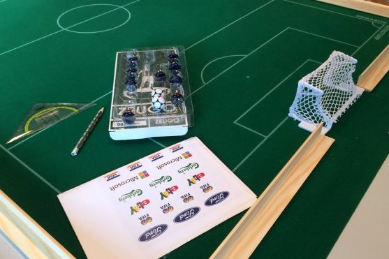 It all started with a Pegasus astroturf pitch and a set of ad labels I bought from Subbuteoworld.