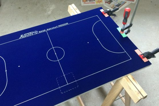 That's the 5-a-side pitch I bought from Astrobase/Italy. Unfortunately, it didn't come with a sticky back so I had to use a spray adhesive to mount it on the board.