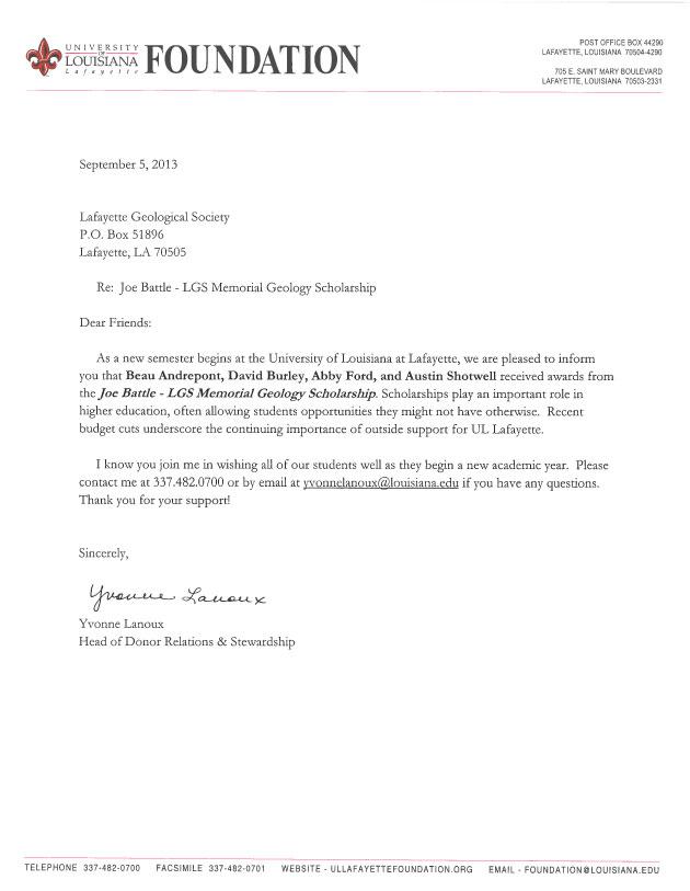 Scholarships « lafayettegeologicalsocietyorg