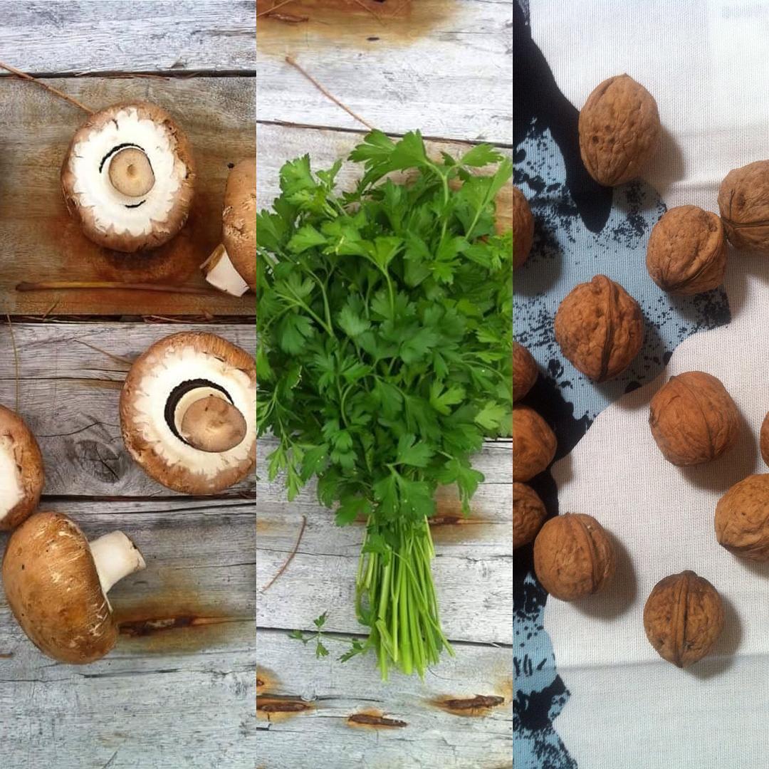 Albondigas veganas de nueces y setas Portobello
