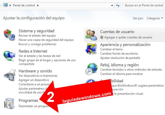 Desinstalar actualizaciones en Windows 7