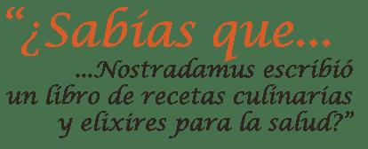 Nostradamus libro de recetas