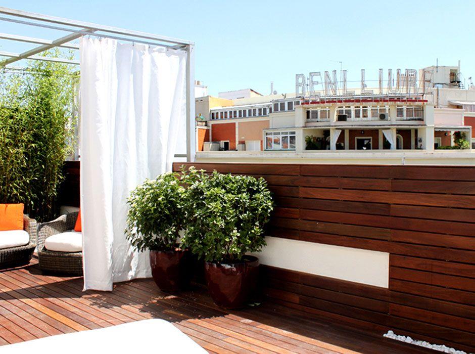 La habitaci n verde terraza de dise o - Jardines en aticos ...