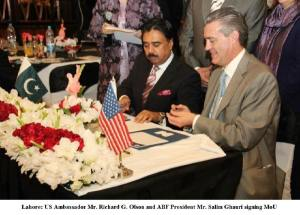 MoU Signing Ceremony between US Ambassador and President ABF