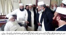 Senator Siraj ul Haq inquires after Molana Abdul Wahab