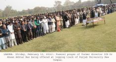 Dr Ahsan Akhtar Naz is laid to rest