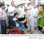 Jashan-e-Azadi wheelchair marathon held in Lahore