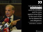 Shahbaz Sharif vows to sue Imran Khan for levelling corruption charges