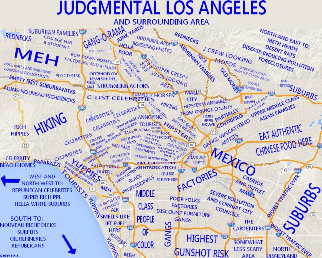 Judgmental\u0027 Map Labels Every Part Of Los Angeles Area LAist